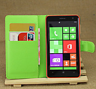 Litchi Around Open Bracket Leather Phone Wallet Card Suitable for Nokia Lumia 625(Assorted Color)