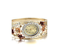 Women's Retro Bracelet Watch Atmospheric Diamond Flower Watch Cool Watches Unique Watches Strap Watch