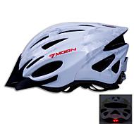 MOON Cycling Silver PC/EPS 21 Vents Luminous Warning Bike Helmet