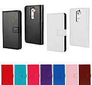 YMX-Solid color Light Surface PU Leather Full Body Wallet Protective Case with Card Slot for LG G2(Assorted Color)
