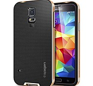 Protective Metal Bumper Frame with Back Cover for Samsung Galaxy S5 i9600