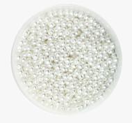 Недорогие -beadia 58g (около 2000pcs) 4мм круглый абс жемчуг белого цвета пластиковые шарики