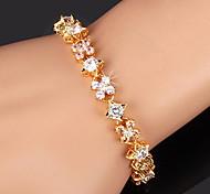 cheap -U7® Luxurious Tennis Bracelet 18K Gold/Platinum Plated High Quality Women Multicolor Flowers Sparkle CZ Bracelet Christmas Gifts