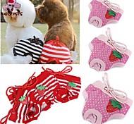 Недорогие -Кошка Собака Брюки Одежда для собак Косплей Свадьба В горошек Бант Красный Розовый Костюм Для домашних животных