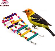 FUN OF PETS®Flexible Pet Wooden Cage Hanging Ladder for Birds