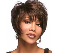 cheap -Synthetic Wig Wavy Pixie Cut With Bangs With Bangs Side Part Brown Women's Capless Carnival Wig Halloween Wig Short Synthetic Hair