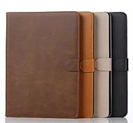 Для Кейс для  Samsung Galaxy Бумажник для карт / Кошелек / со стендом / Флип Кейс для Чехол Кейс для Один цвет Натуральная кожа Samsung