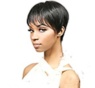 cheap -New Arrival Black 1B Color Short Straight  Hair Wig Capless Synthetic Wigs  Natural Sexy Daily Wig