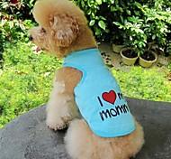 Недорогие -Кошка Собака Футболка Одежда для собак С сердцем Буквы и цифры Оранжевый Серый Синий Розовый Хлопок Костюм Для домашних животных Косплей