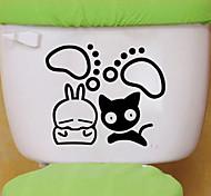 наклейки для стен стены наклейки наклейки в стиле кошка туалет ванная комната украшения стены PVC