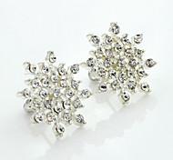 cheap -Stud Earrings Crystal Rhinestone Gold Plated Simulated Diamond 18K gold Fashion Silver Jewelry 2pcs