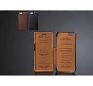 Специальная конструкция из натуральной кожи сплошной цвет полный кейс корпус для Iphone 6с 6 плюс