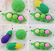 cheap -Cartoon Vegetable Cabbage Pea Corn Detachable Rubber Eraser (Random Color)