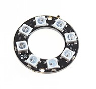 cheap -WS2812 5050 RGB LED Intelligent Full-Color RGB Light Ring Development Board