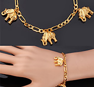 cheap -Women's Charm Bracelet Bracelet Fashion Gold Plated Alloy Elephant Animal Jewelry Christmas Gifts Wedding Party Special Occasion Birthday
