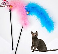 Cat Toy Pet Toys Teaser Feather Toy Bell Textile For Pets