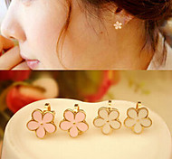 Flower  Alloy Clip  Earrings Wedding/Party/Daily/Casual 2pcs