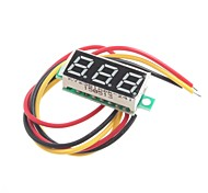 0.28-Inch Ultra-Small Digital DC Voltmeter Digital Adjustable Three-Wire DC0-100V
