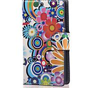 мульти-цветок пу кожаный бумажник полный случай тела с подставкой для Lumia 532 майкрософт