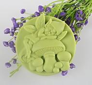 Недорогие -грибы дух в форме мыла формы Mooncake формы помады торт шоколадный силиконовые формы, отделочные инструменты посуда