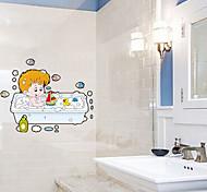 Недорогие -Аппликации для ванной Унитаз / Ванна / Для душа / Шкафчики Пластик Многофункциональный / Экологически чистый / Мультфильмы / Подарок