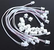 Double Line 2.54-2P XH-2P With Wire Leader + Transposon Long 30CM(10Pcs)