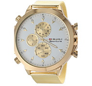 JUBAOLI® Men's Military Design Fashion Gold Steel Band Quartz Wrist Watch Cool Watch Unique Watch