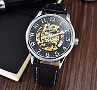 Мужской Наручные часы Механические часы С автоподзаводом Защита от влаги Кожа Группа Черный Коричневый