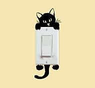 pegatinas de pared de estilo calcomanías de pared pegatinas interruptor gatito pvc