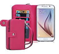 Недорогие -для Samsung Galaxy случае s8 плюса бумажника случае полный корпусного сплошного цвет ПУ кожи Samsung s6 края s6 S8