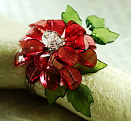 cheap -Acrylic Mini Napkin Ring Patterned Eco-friendly Table Decorations