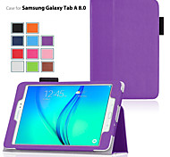 cheap -Case For Samsung Galaxy Tab A 9.7 Tab A 8.0 Samsung Galaxy Case with Stand Flip Full Body Cases Solid Color PU Leather for