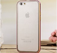Moshuo™ Protective Metal Bumper Frame with Back Cover for iPhone 6 plus(Assorted Colors)