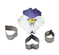 Недорогие -Four-C украшения сердце цветок из нержавеющей стали резак помады сахара ремесло кекс плесень формы для выпечки печенья инструменты