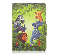 SZKINSTON Animal Family Case Cover Shockproof with Stand Sleep Magnetic Pattern Full Body PU Leather For All 9.5 - 10.5 Inch Mobile Phone or Tablet