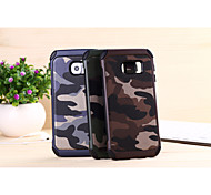 cheap -Case For Samsung Galaxy Samsung Galaxy Case Shockproof Back Cover Camouflage Color PC for S6 edge plus S6 edge S6 S5