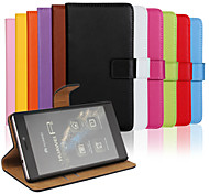 Solid color Stylish Genuine Leather Flip Cover Wallet Card Slot Case with Stand for Huawei P7mini Huawei P7 P8 Mac