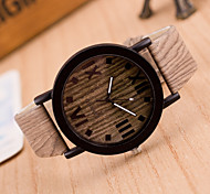 Women's Fashion Watch Wood Watch Quartz Leather Band Vintage Brown Khaki