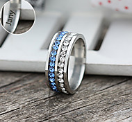 Недорогие -Персонализированные ювелирные изделия Кольца - Нержавеющая сталь - серебро / синий -