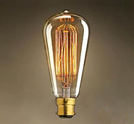 cheap -1pc 60W 40W B22 ST64 Warm White 2300 K Incandescent Vintage Edison Light Bulb 220-240 220V V