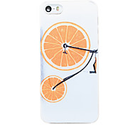 Orange Bicycle Pattern Transparent PC Back Cover for iPhone 5/5S