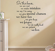 cheap -Wall Decal Decorative Wall Stickers - Words & Quotes Wall Stickers Words & Quotes Removable