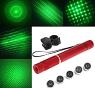 LT - 5mw 532nm Visible Adjustable Beam Green Laser  Pen Flashlight - Red