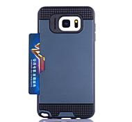 для Samsung Galaxy держатель карты случае задняя крышка случая броня ПК Samsung Примечание 5 Примечание 4 Примечание 3