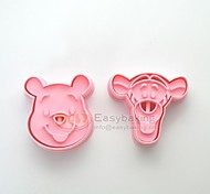 cheap -Cute Cartoon Animal 3D Winnie the Pooh Tigger Cookie Cutters and Stamps