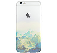 For iPhone 5 Case Translucent / Pattern Case Back Cover Case Scenery Soft TPU iPhone SE/5s/5