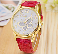 L.WEST Fashion High-end Diamonds Butterfly Quartz Watch Strap Watch