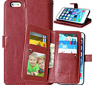High quality PU leather wallet mobile phone holster Case For iPhone 7 7 Plus 6s 6 Plus SE 5s 5