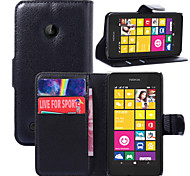 For Nokia Case Wallet / Card Holder / with Stand Case Full Body Case Solid Color Hard PU Leather Nokia Nokia Lumia 530