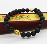 cheap -Men's Women's Beads Strand Bracelet - Unique Design Vintage Casual Circle Buddha Jewelry Black Bracelet For Christmas Gifts Daily Casual